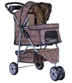 All Terrain Extra Wide 3 Wheels Pet Dog Cat Stroller