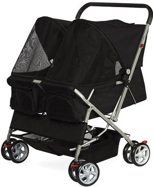 OxGord Pet Twin Double Stroller Cat Dog