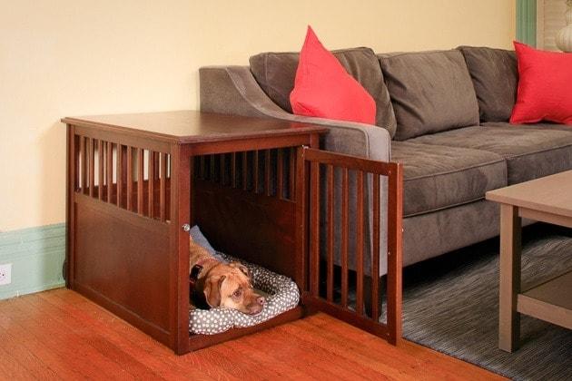 Crown Wood Dog Crate