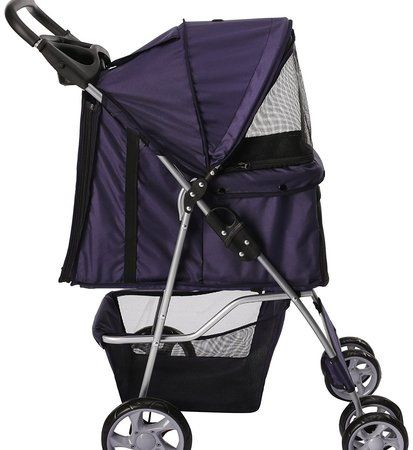 Paws & Pals 4 Wheel Folding Travel Carrier Carriage