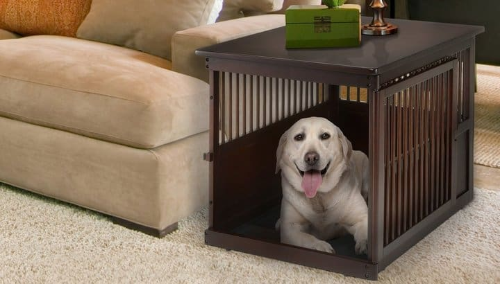 richell wooden pet table crate