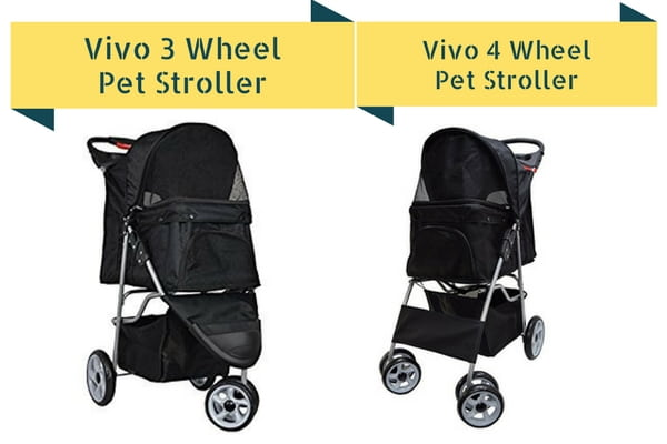 vivo 3 vs 4 wheel pet stroller