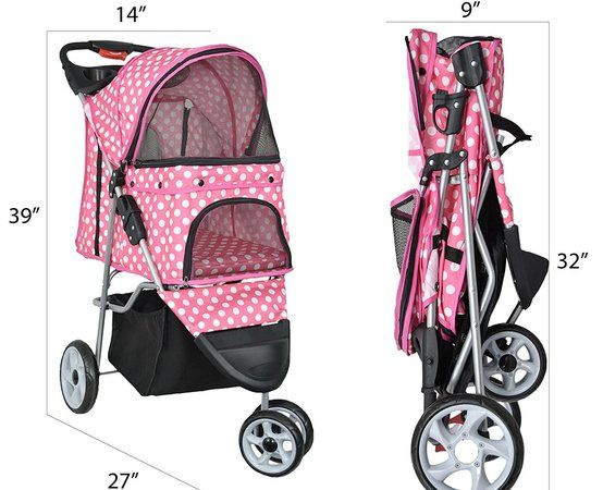 vivo 3 wheel pet stroller