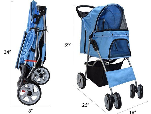 vivo 4 wheel pet stroller