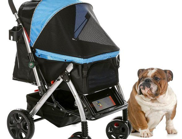 HPZ Pet Rover Premium Heavy Duty Stroller for Travel Carriage