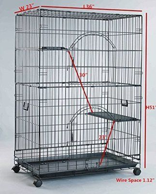 Homey Pet 36 or 30 inches Black Wire Chinchilla Cage - Copy